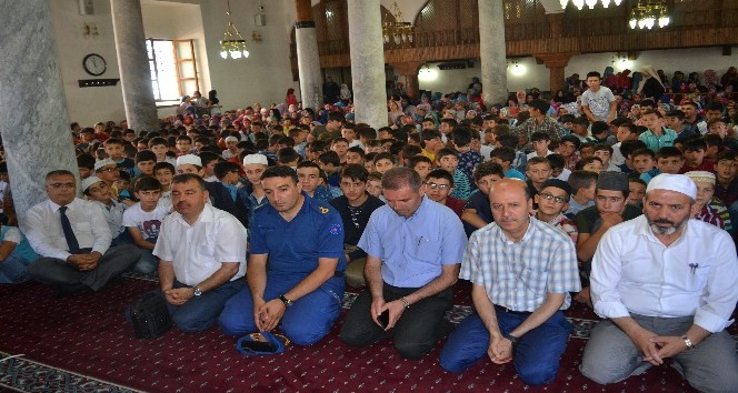 Şuhut'ta öğrencilerin 15 Temmuz ruhu