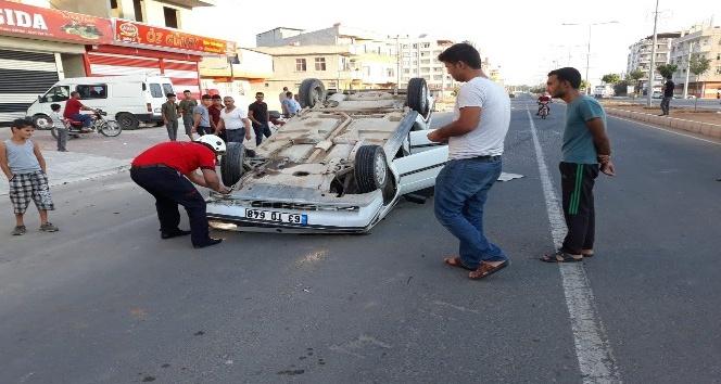 Akçakale'de trafik kazası: 2 yaralı