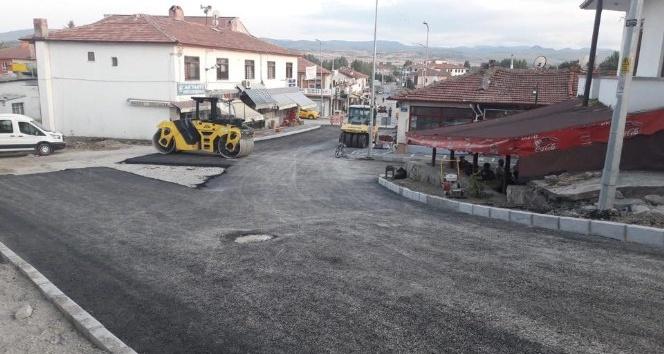 Çerkeş'te asfaltlama çalışmaları sürüyor