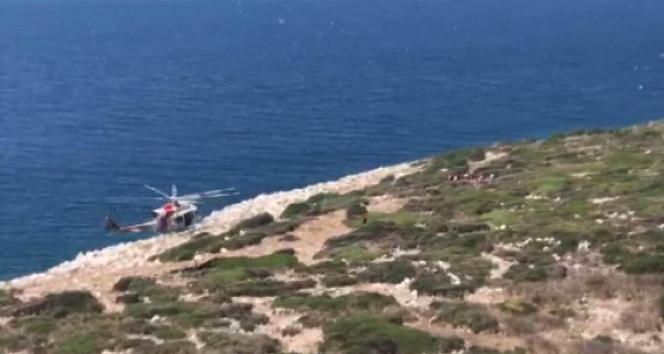 Adada mahsur kalan kaçak göçmenler kurtarıldı