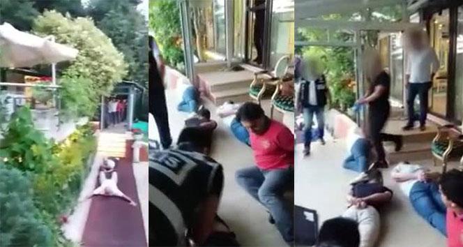 Adnan Oktarın villasına ilk baskın anı polis kamerasında
