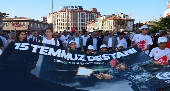 Balıkesir'de Milli Birlik ve Beraberlik yürüyüşü