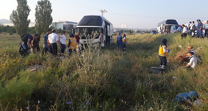 Başkent'te otobüs kazası: 15 yaralı