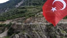 Kahramanlar Kürtünde güllerle, dualarla karşılandı