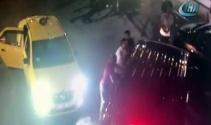 Uber şoförüne saldırı güvenlik kamerasında