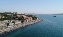 Restore edilen İstanbul surları havadan görüntülendi
