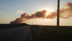 Osmaniyede geri dönüşüm fabrikasında büyük yangın