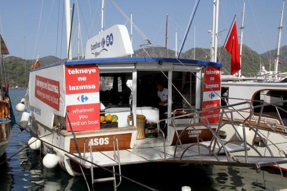 """CarrefourSA Mavi, """"Tekneye Ne Lazımsa"""" diyerek Göcek'te denizde"""