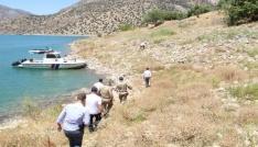 Çemişgezekte baraj gölünde kıyı güvenliği incelemesi