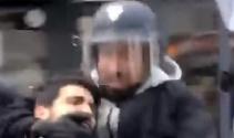 Polis kılığında eylemci döven Macron'un danışmanı gözaltında