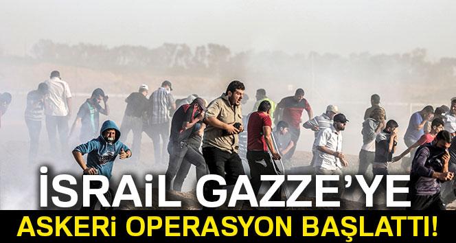 İsrail ordusu Gazze'ye askeri operasyon başlattı