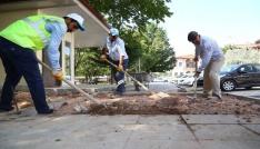 Aksarayda belediye çalışmaları sürüyor