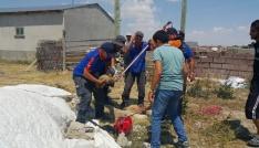 7 metrelik kuyuya düşen yavru köpek AFAD tarafından kurtarıldı