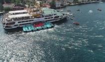 Samsung Boğaziçi Kıtalararası Yüzme Yarışı heyecanı havadan görüntülendi