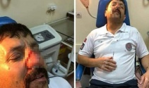 İstanbulda ambulans şoförünün darp edilme anı kamerada