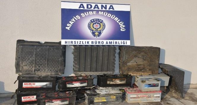 Adana'da 6 günde 8 otomobilin aküsünü çalan 2 kişi yakalandı