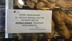 Merzifonlular Bahçelinin çağrısıyla askıda ekmek projesini başlattı