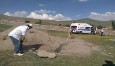 Ardahanda bulunan Rus subayın cesedi toprağa verildi