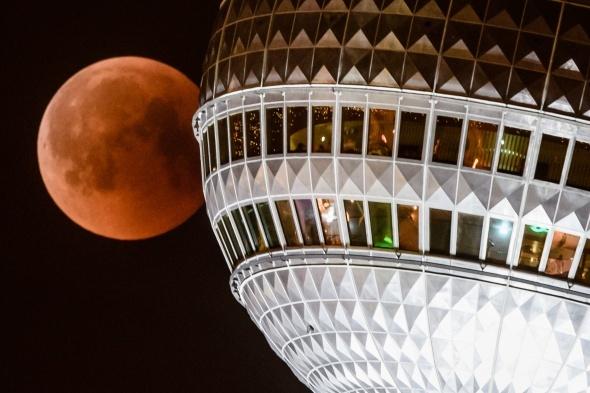 Dünyadan Kanlı Ay Tutulması fotoğrafları