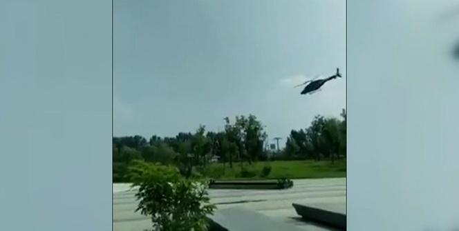 Pekin'de helikopter düştü