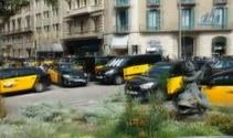 İspanyalı taksicilerden Uber protestosu