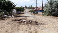 Köylüler yollarının yapılmasını bekliyor