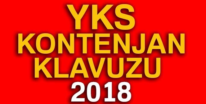 YKS kontenjanları ve sıralamaları 2018 |YKS kontenjan KLAVUZU 2018| YKS kontenjan sayıları 2018