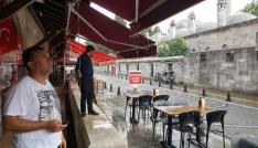 Lüleburgazda sağanak yağış