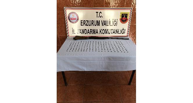 Erzurum'da Bizans dönemine ait 185 adet gümüş sikke ele geçirildi