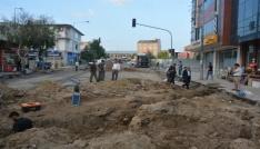 Başkan Köksoy, sıcak asfalt yol yapım öncesi alt yapı çalışmalarını inceledi