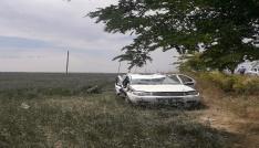 Aksarayda tatil dönüşü kaza: 1 ölü, 3 yaralı