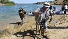 Kırıkkalede turna balığı tutma yarışı