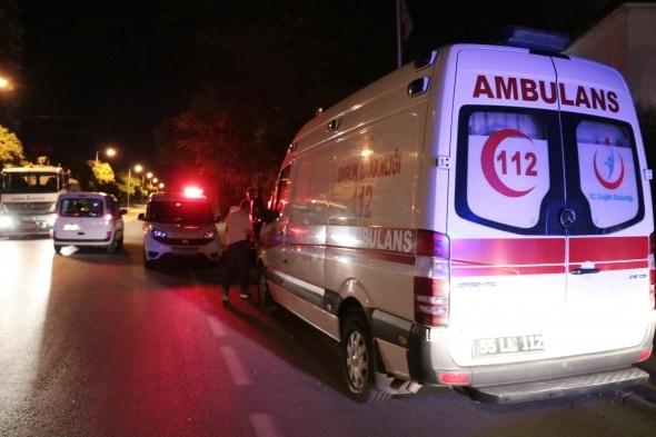 Drift ile yolu kesilmişti... O ambulansa saldırı!