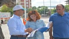 Başkan Köksoy, Kongre Caddesinde sıcak asfalt yol çalışmalarını inceledi