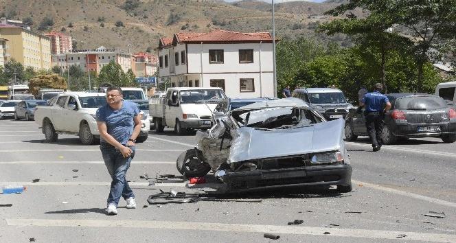 Gümüşhanede zincirleme trafik kazası: 4 yaralı
