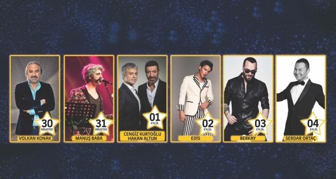 Müzikseverler birbirinden ünlü sanatçıların konserleriyle müziğe doyacak