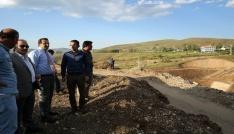 Çamur Barajı inşaat sahasında incelemeler yapıldı