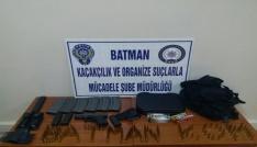 Batmanda evden cephanelik çıktı