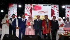 Yozgatta 8 çift, 08.08.2018 tarihinde toplu nikah töreniyle evlendi