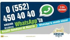 Kırşehir Belediyesi Whatsapp iletişim hattı hizmete girdi