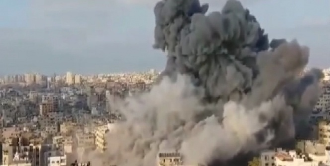İsrail, Gazze şehir merkezini bombalıyor!