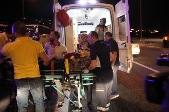 TEM'de feci kaza: 3 yaralı