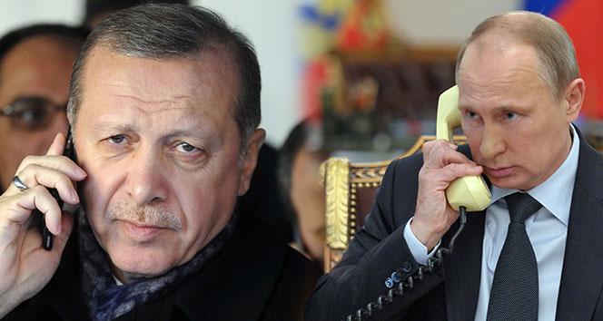 Cumhurbaşkanı Erdoğan, Putin ile telefonda görüştü  !