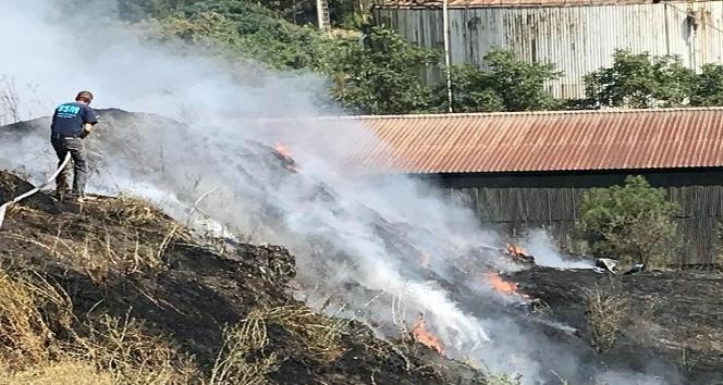 Kağıt fabrikasında yangın