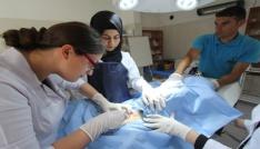 Stajyer öğrenciler ilk defa ameliyat heyecanı yaşadı