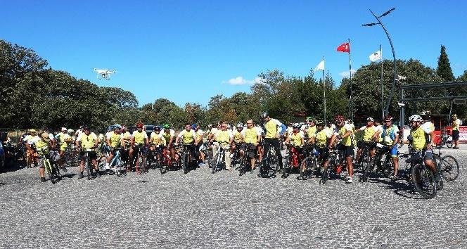 Troia'dan Bergama'ya 3. UNESCO Dünya Mirası Yolunda Bisiklet Turu'nun startı verildi
