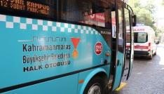 Otobüste fenalaşan yolcuyu kurtarma çabası