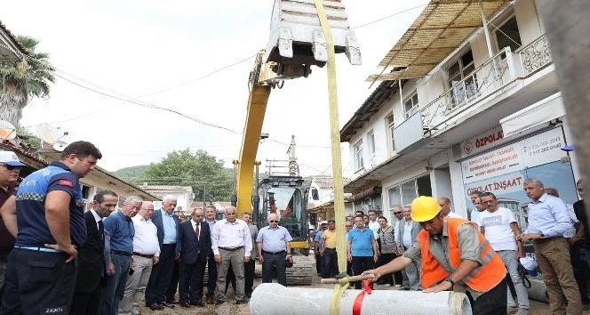 Ula'ya 13 milyon TL'lik kanalizasyon