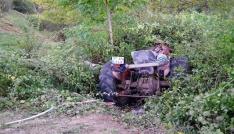 Kastamonuda traktör ile otomobil çarpıştı: 1 ağır yaralı