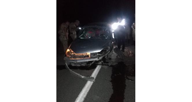 Iğdırda trafik kazası: 1 ölü, 3 yaralı